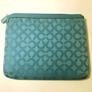 Lovely Light Blue Aqua iPad Case Vintage Coach